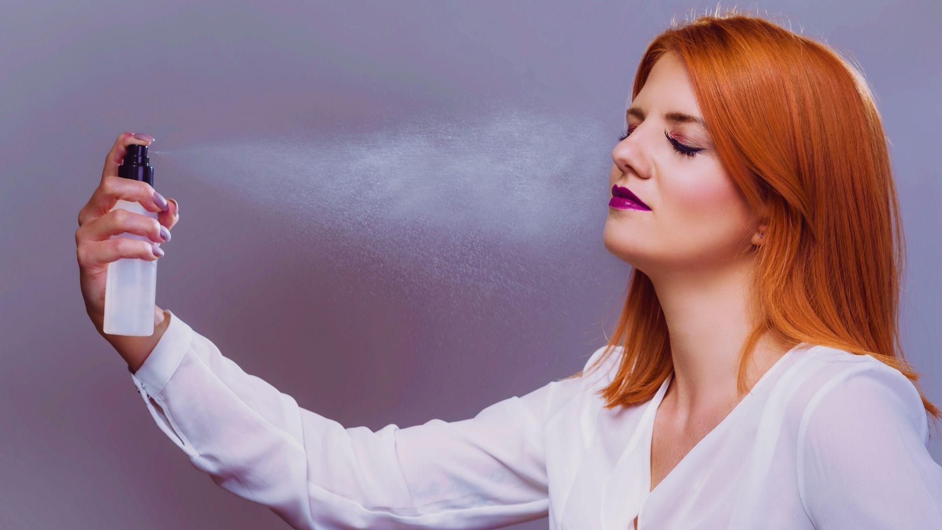 Spray transpiration visage